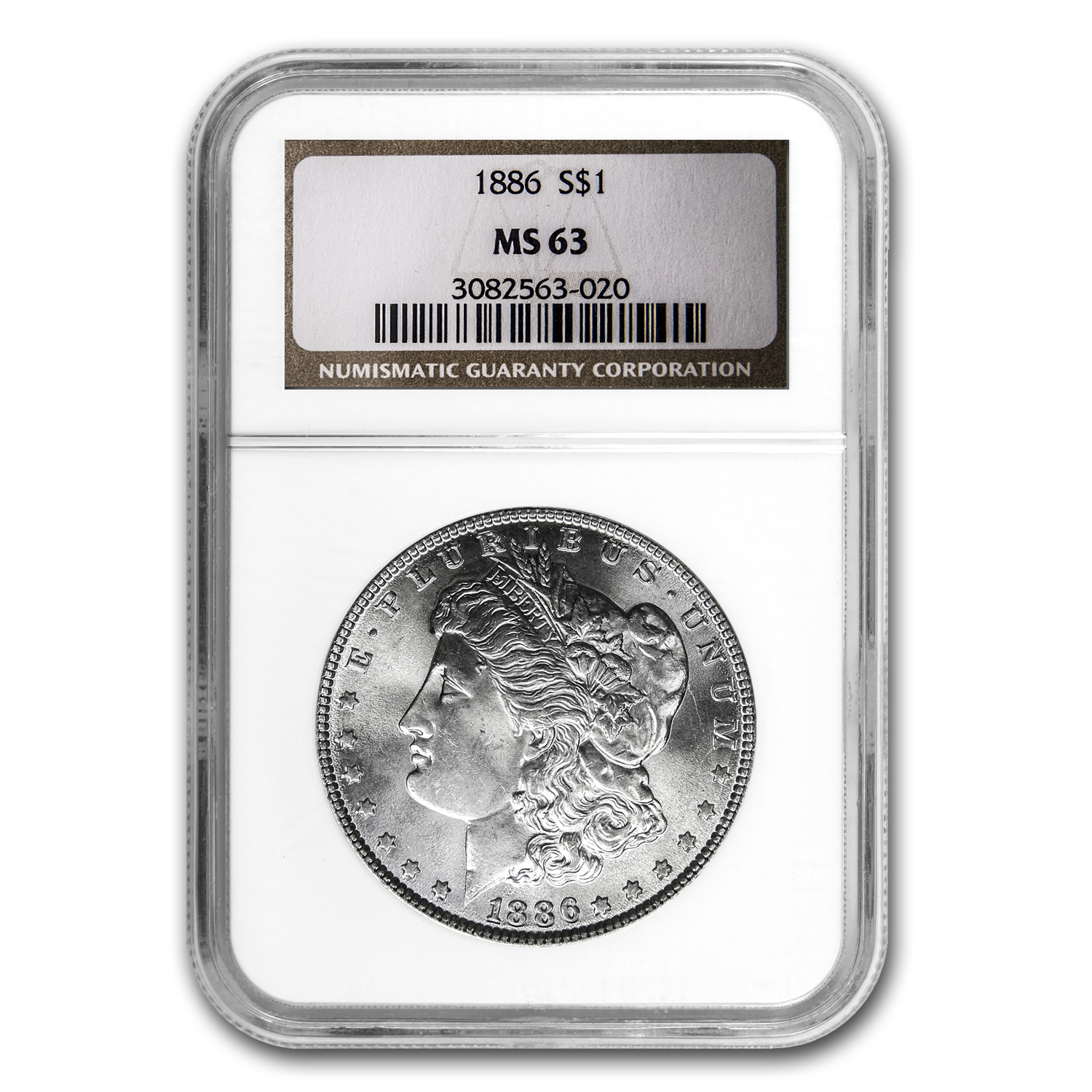 1886 Morgan Dollar MS-63 NGC